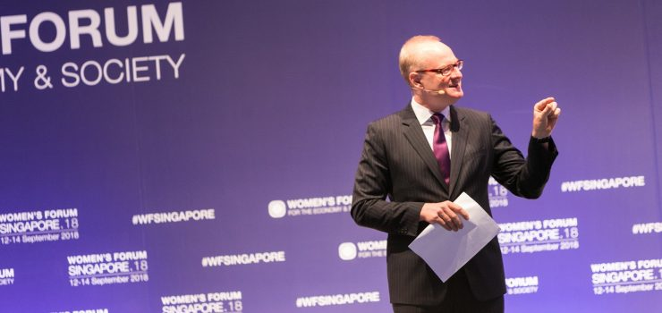 Martin Roll Was Master Of Ceremony For The Women's Forum Singapore 2018